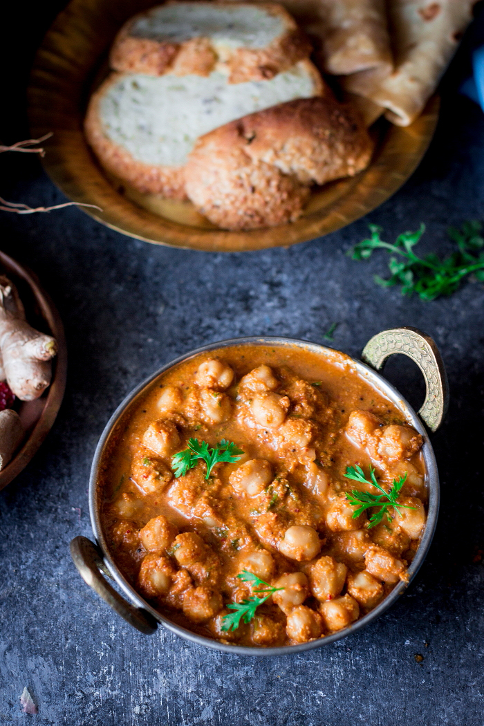 South Indian Chickpea Curry with coconut