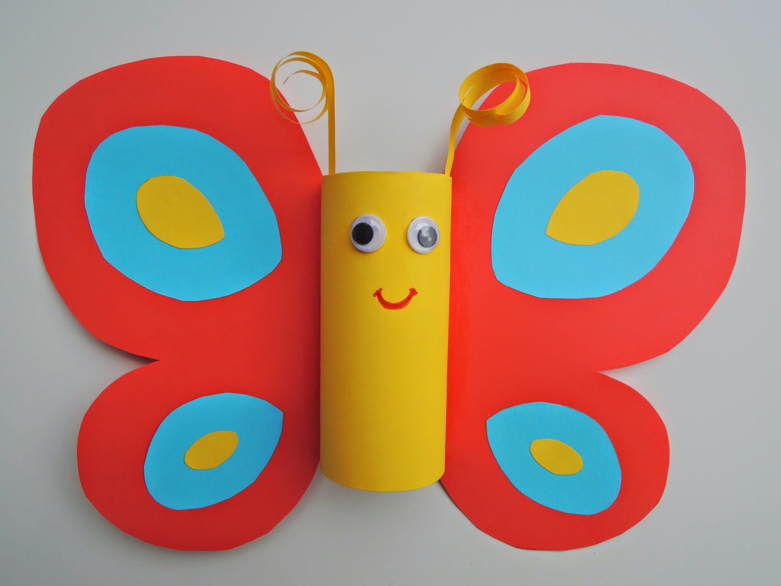 Rossi S Art And Crafts Toilet Paper Roll Butterfly Craft