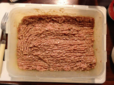 pork burger mixture