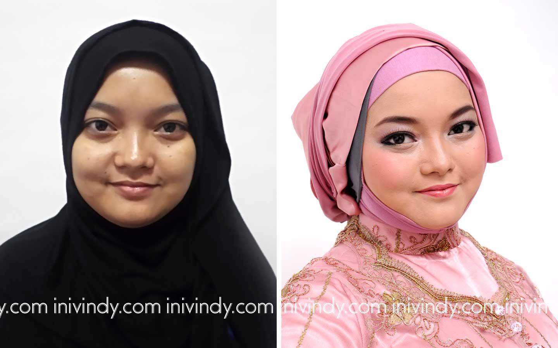 Ini Vindy Yang Ajaib Before After Makeover Wisuda Hijab Natural