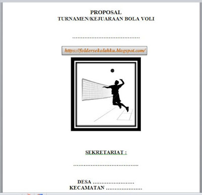Download Contoh Proposal Bola Voli Folder Sekolahku