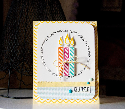 Circle Stamp- Birthday card
