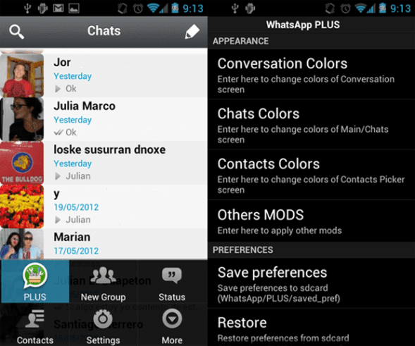 Download and install whatsapp plus latest version for android