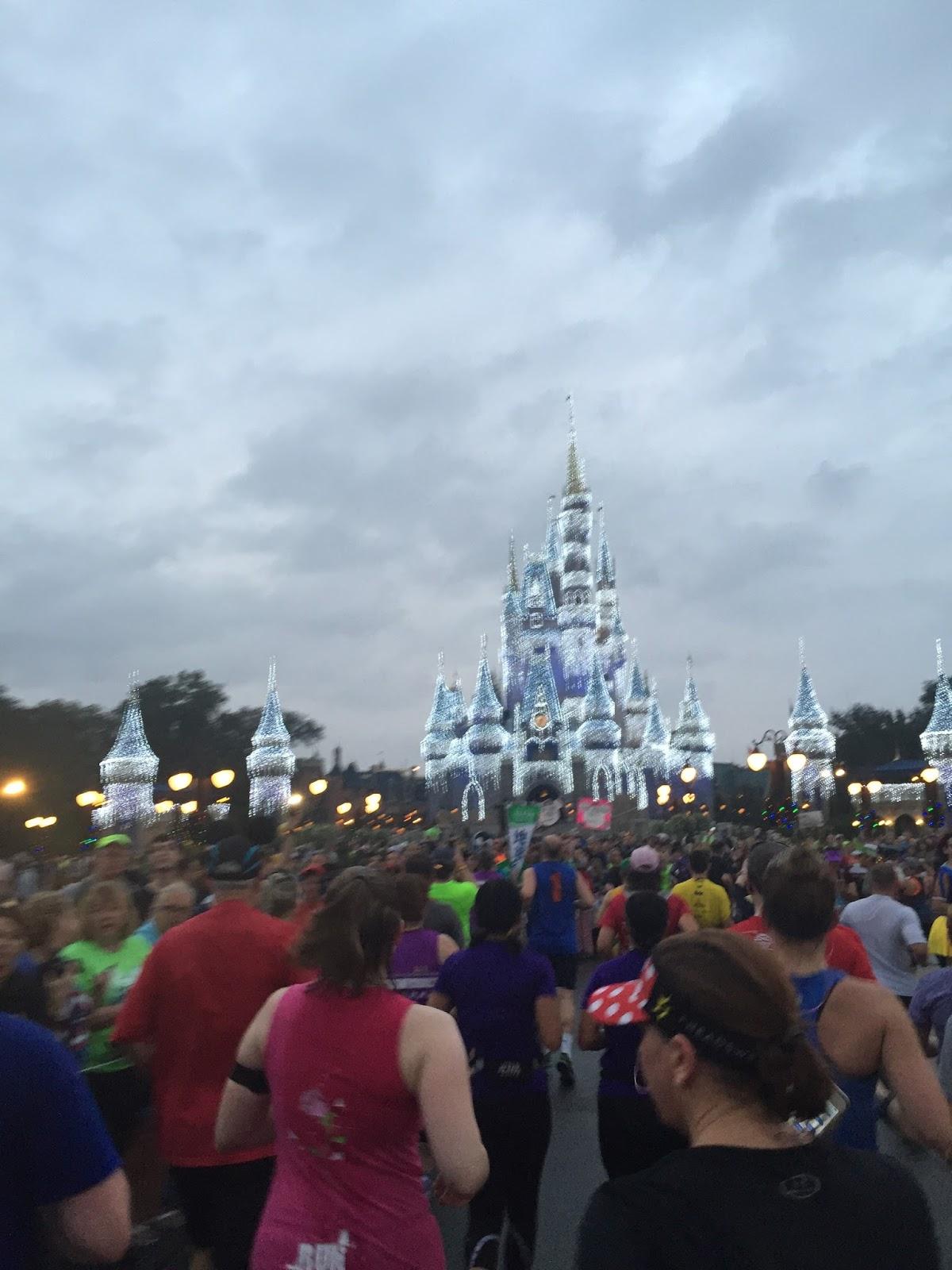 Dopey Challenge Mickey Marathon 2016 Castle in Magic Kingdom