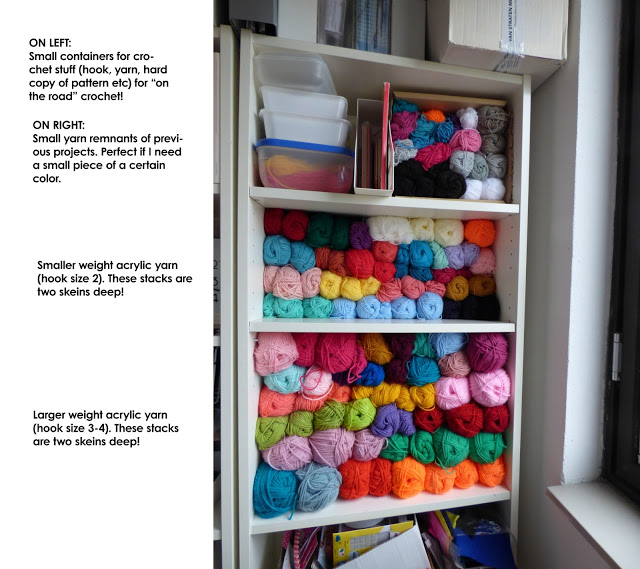 crochet yarn stash craft room organization