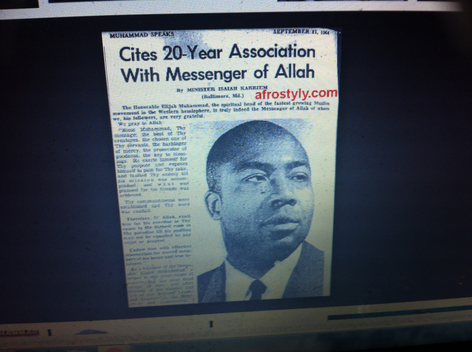 a biography of elijah mauhammad an african american islamic religious leader The real reason muhammad ali converted to islam  the religious life of one of the country's best-known african american athletes and activists  the nation and its leader, elijah muhammad.