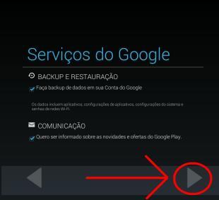 Serviços Google de Comunicação para email