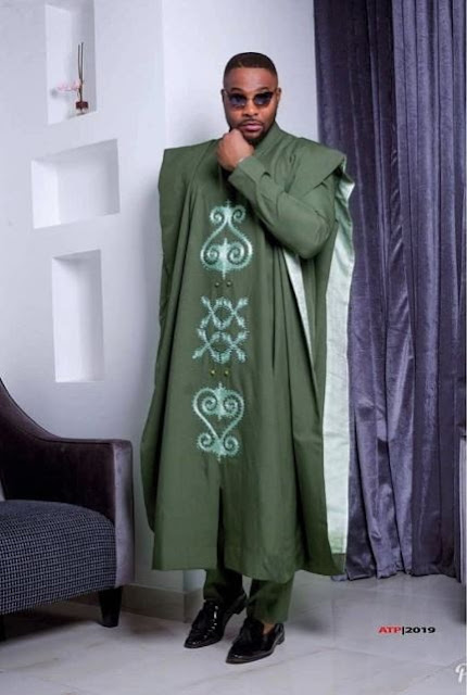 Handsome Actor, Bolanle Ninalowo Celebrates His 39th Birthday, Rocks Agbada (Photos)