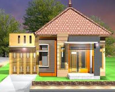 model bentuk rumah sederhana di kampung