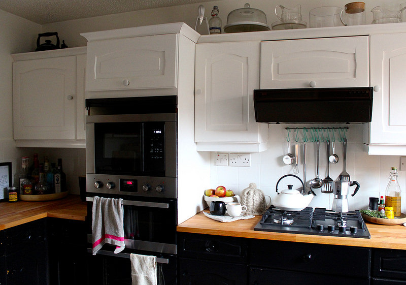b&q kitchen makeover budget how to cupboard paint renovation hob and ovens