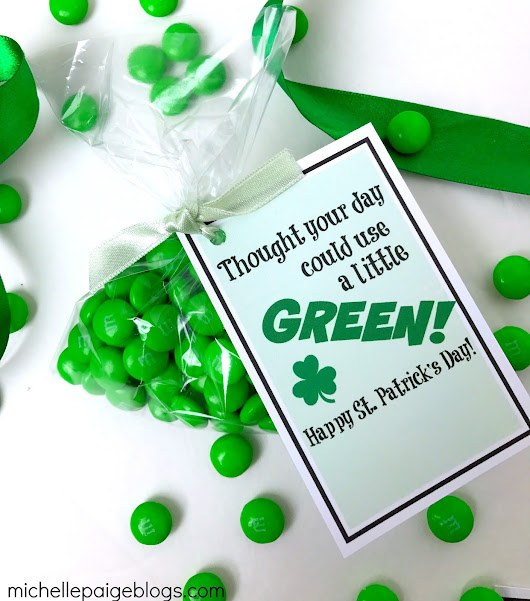 St. Patrick's Day Green Treats with Printable Tags