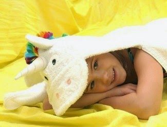 yikes twins unicorn hooded towel 2