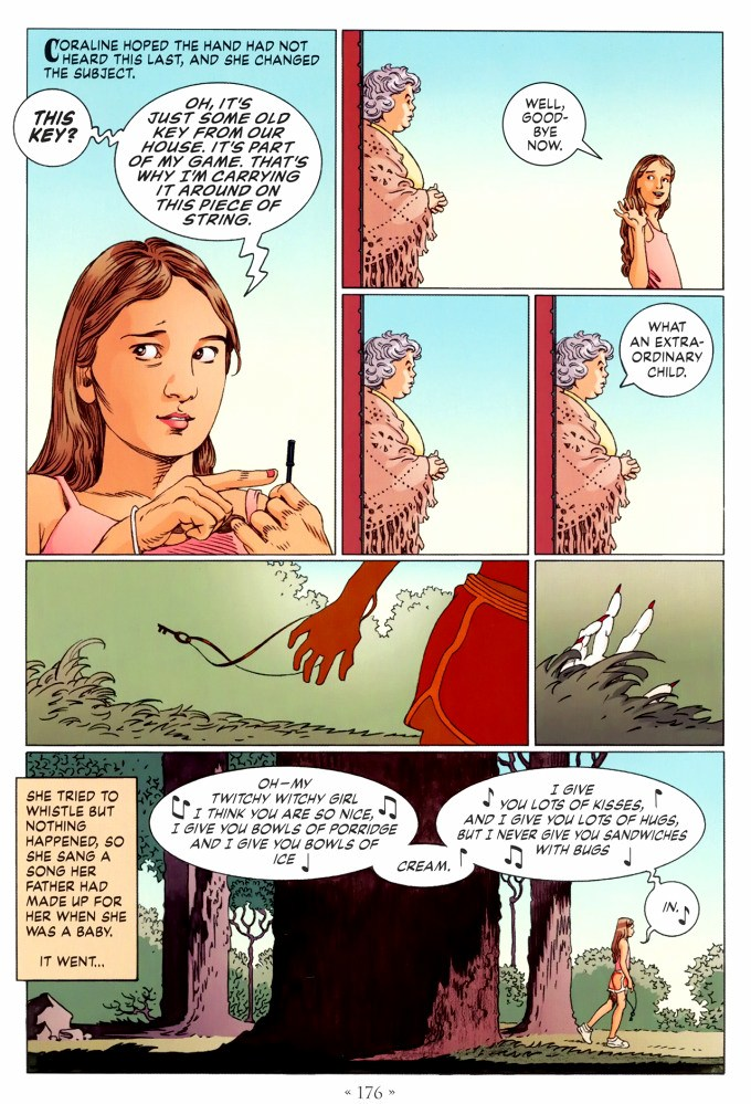 Read page 176, from Nail Gaiman and P. Craig Russell's Coraline graphic novel