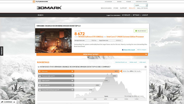 VRMark Orange Room Benchmark Desktop 1.0