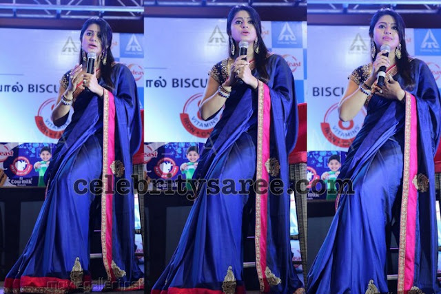 Sneha Blue Raw Silk Saree