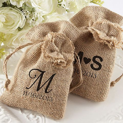 Burlap Wedding Favor Bag