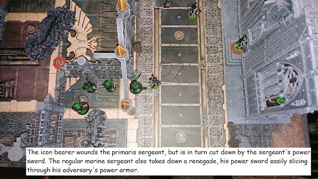 Warhammer 40k Kill Team Chaos Space Marine Renegade Adeptus Astartes battle report