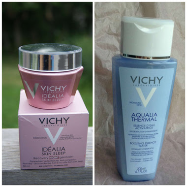 Vichy Aqualia Thermal Boosting Essence Water and Idealia Skin Sleep Recovery Night Gel-Balm