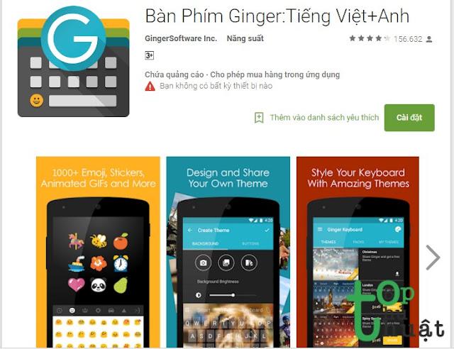 Bàn Phím Ginger:Tiếng Việt+Anh