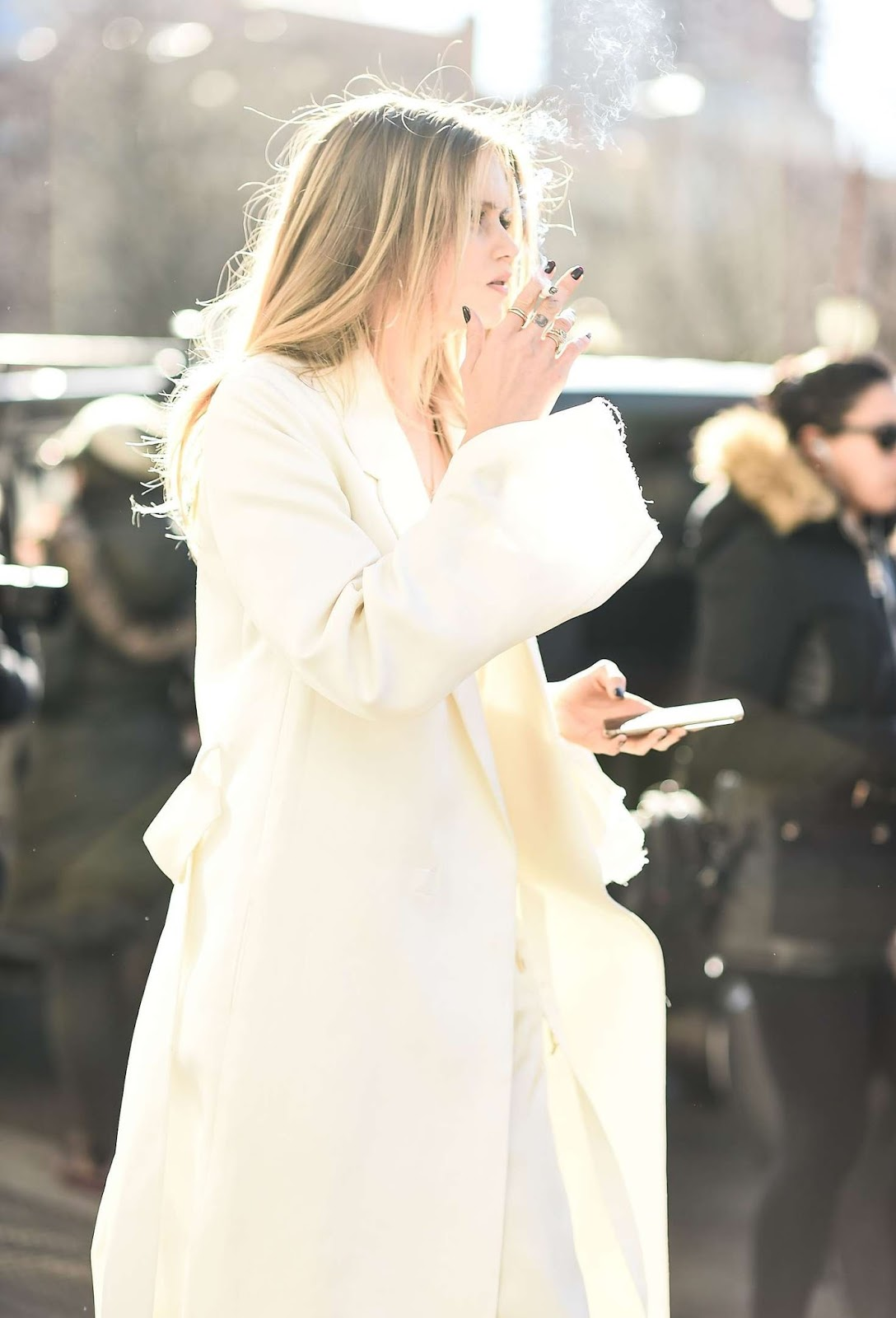 Street Style: Abbey Lee Kershaw Wears White