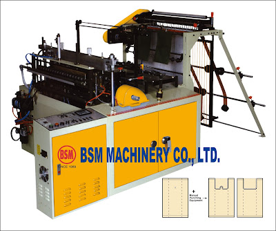 SEMI T-SHIRT BAG MAKING MACHINE, SEMI VEST BAG MAKING MACHINE