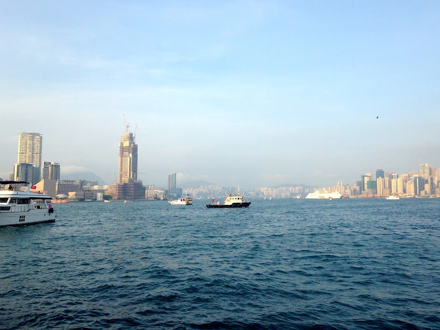 View of Victoria Harbour from the junk boat | Hong Kong