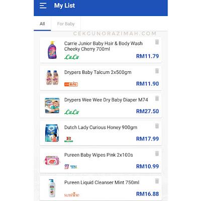 banding harga keperluan, hargapedia, banding harga di hargapedia, harga barangan keperluan harian, semak harga barangan keperluan harian, semak harga susu tepung, semak harga diapers