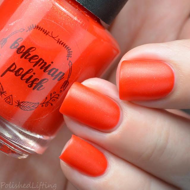 orange matte nail polish