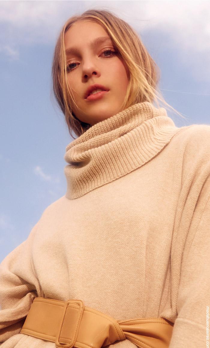Sweaters invierno 2019 ropa de mujer. Moda invierno 2019.