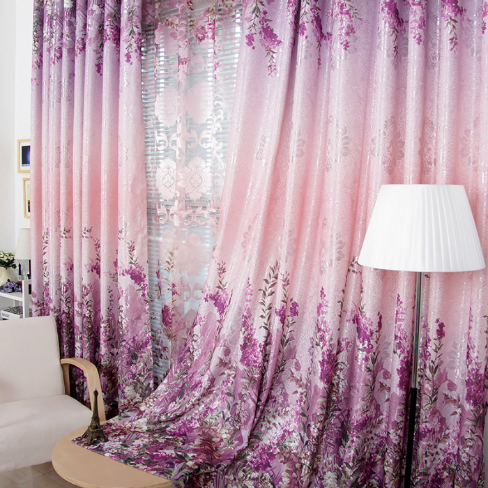 Favorite Country Purple Floral Energy Saving Curtains, curtainsmarket