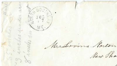 c1870s Letters to Lovina A. (Hodgkins) Stinchfield Norton at New Sharon, Maine