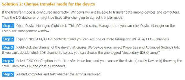 Mengubah mode transfer pada perangkat flashdisk