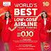 AirAsia Tawar Promosi Penerbangan Sehala Dengan Harga Serendah 10 Sen