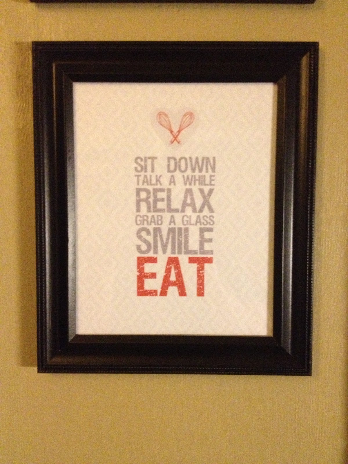 Two Steps Forward and Im Not Looking Back Kitchen Wall Decor a la Pinterest