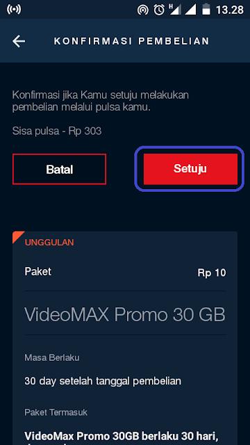 Cara Mendapatkan Kuota Videomax Telkomsel 30 GB Hanya 10 Rupiah