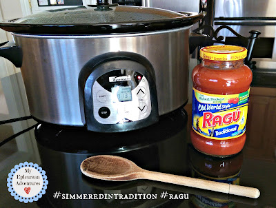 Slow Cooker Meatballs with meatball sub leftovers #simmeredintradition #ragu http://bit.ly/RaguSimmeredInTradition