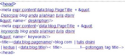 menata ulang meta tag html