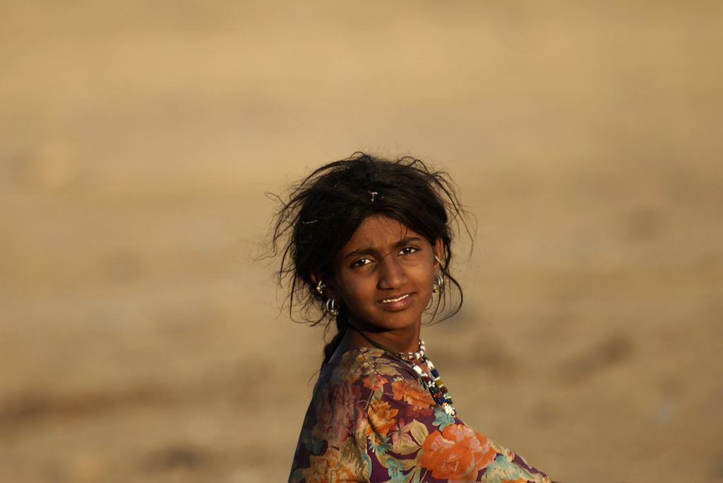 Indian girl in the Great Indian Desert, India is one of the photographer's many photographs posted on Facebook..