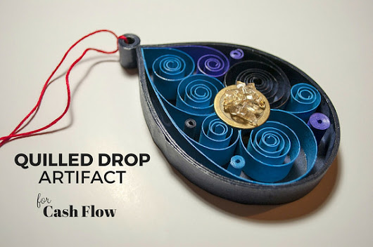 Paper Spirals: Quilled Drop Artifact For Cash Flow