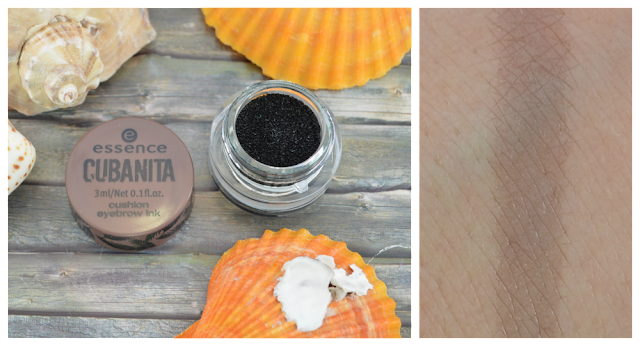 Essence Cubanita TE cushion eyebrow ink 01 carribean brows Swatch