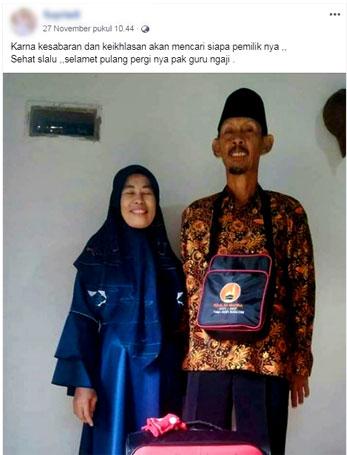 guru ngaji kampung berangkat umroh gratis