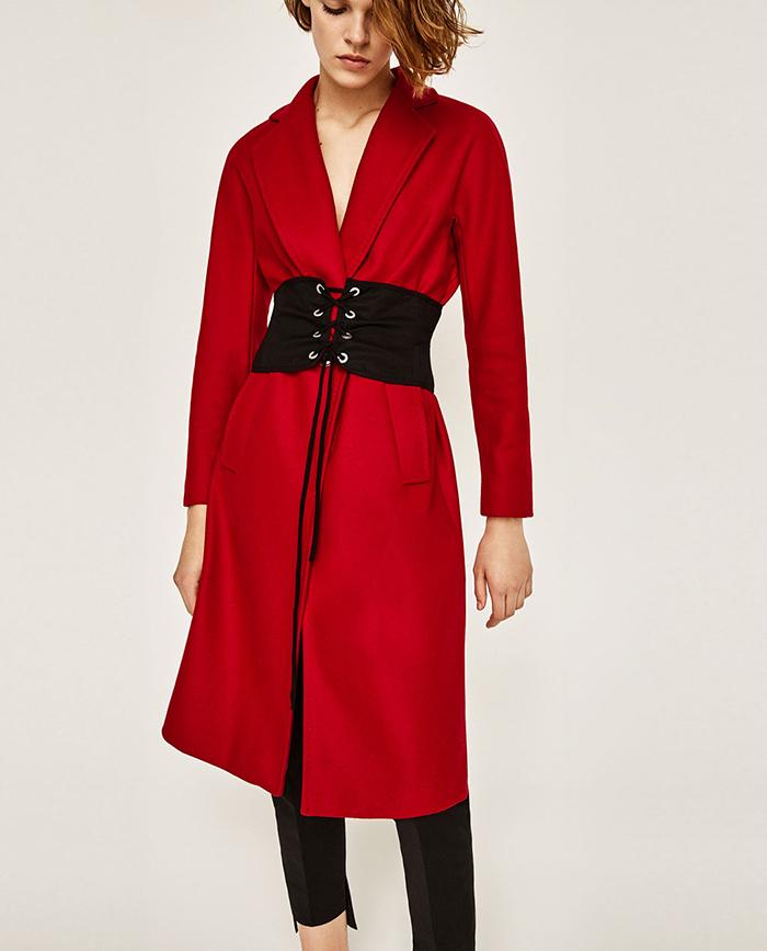 cintura su cappotto