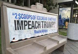 'Impeach Maxine Waters' street art appears near Inglewood town hall meeting