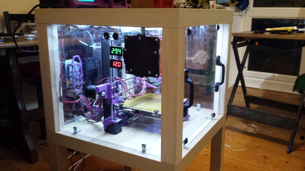 Diy 3d Printing Hacking Ikea Tables Into 3d Printer Enclosure