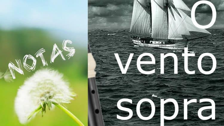O vento sopra - Mauricéa - Notas melódicas