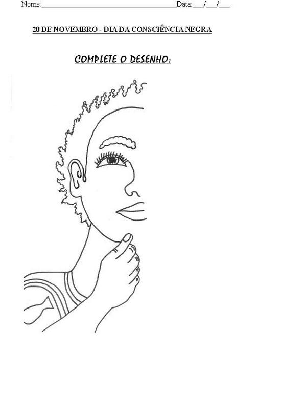 Atividades Consciencia Negra Desenhos Colorir Pintar Imprimir