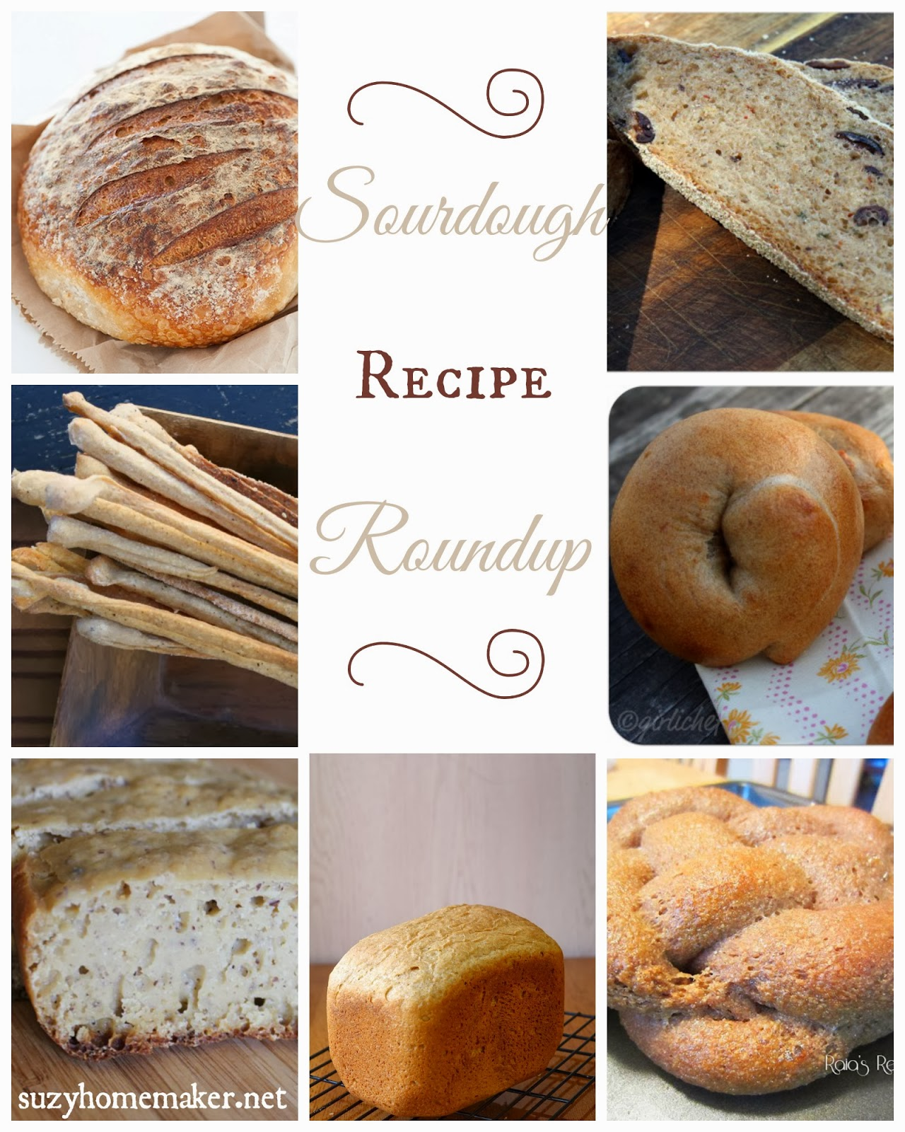 sourdough recipe roundup | suzyhomemaker.net
