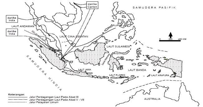 hindu_budha di Indonesia kelompok 5: Peta Jalur Pelayaran