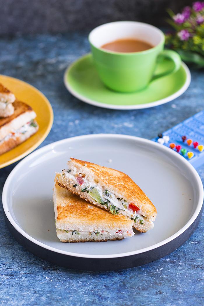 dahi sandwich yogurt sandwich hung curd sandwich