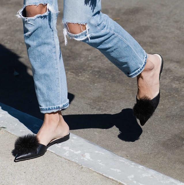 frances valentine slides, new kate spade shoes, how to wear slides